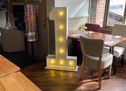 LED light up number 1