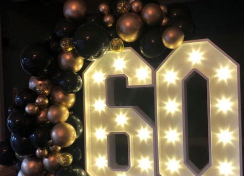 LED light up number 60
