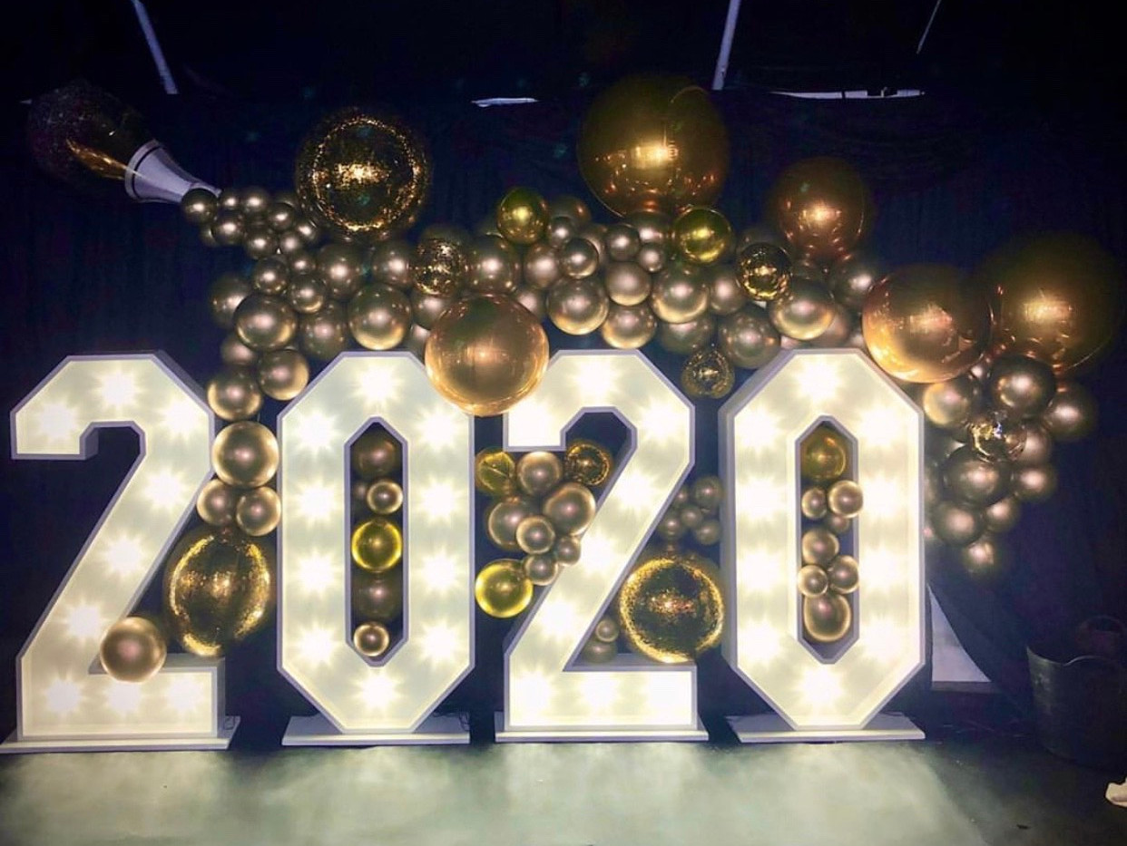 2020 LED light up numbers
