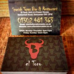 Business card #spanish #restaurant #donc