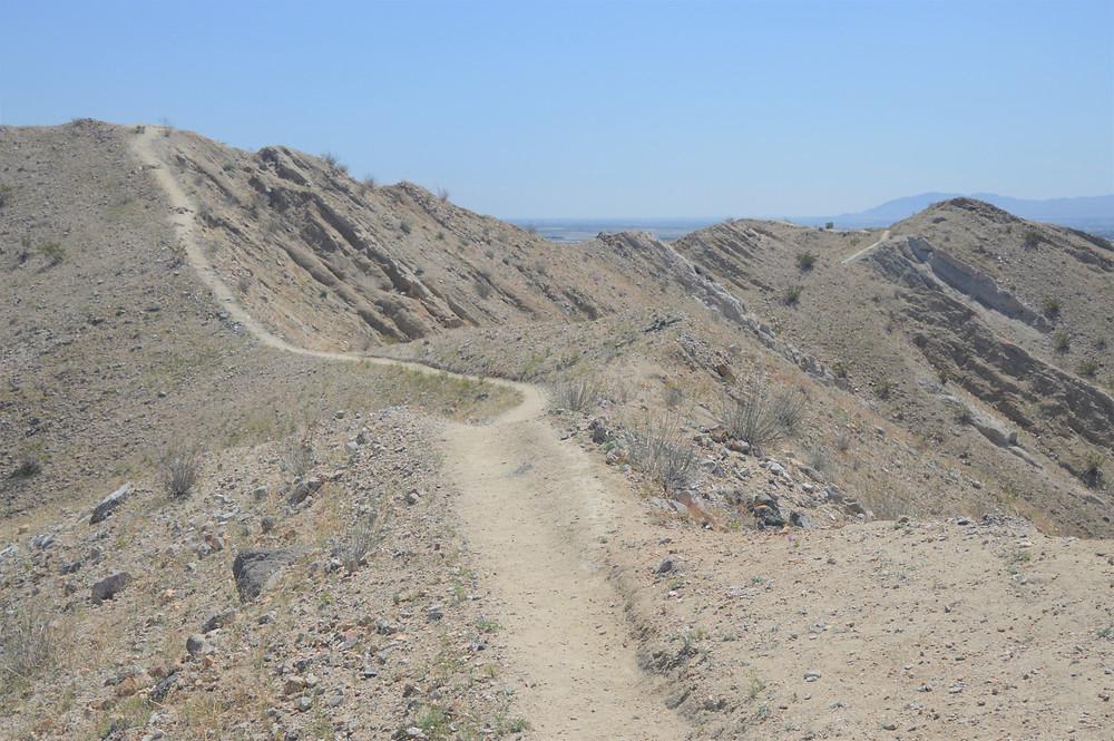Hiking Indio Hills Badland Loop Trail