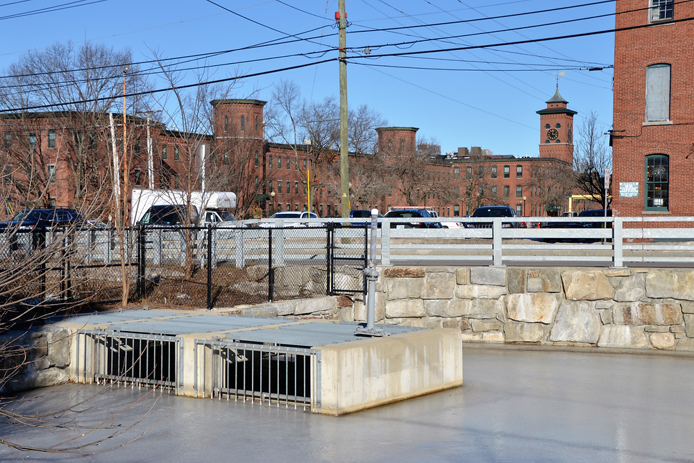 End of Nashua Manufacturing Co. canal in Nashua NH