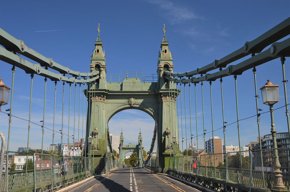 The Hammersmith Bridge in London opened in 1887