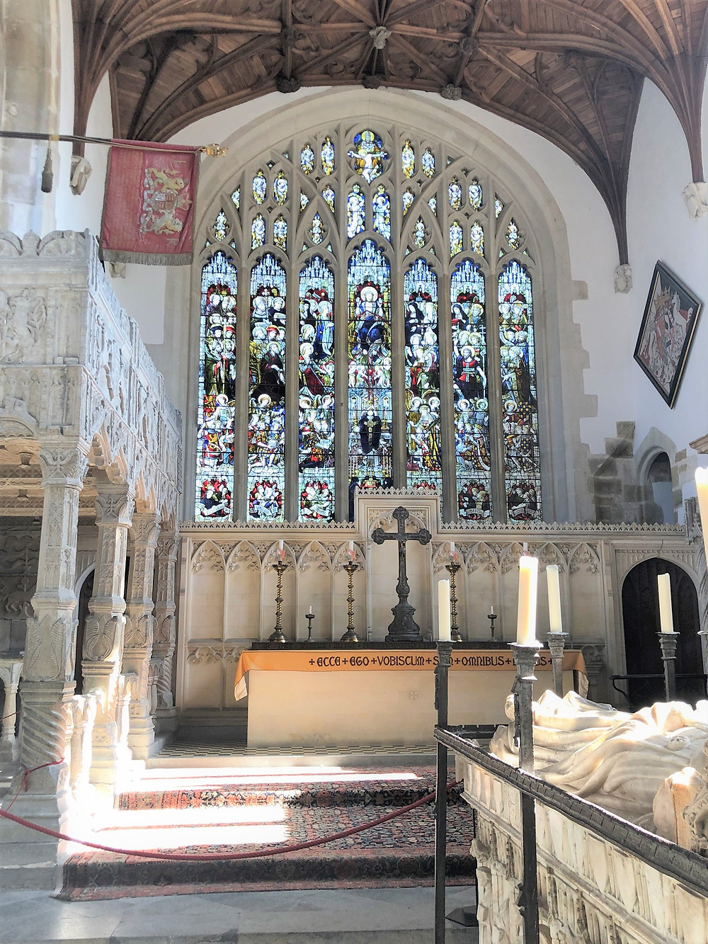 The inside of the Fitzalan Chapel and altar at Arundel Castle