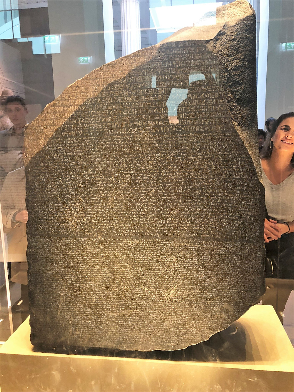 The Rosetta Stone on public display at the British Museum almost continuously since 1802