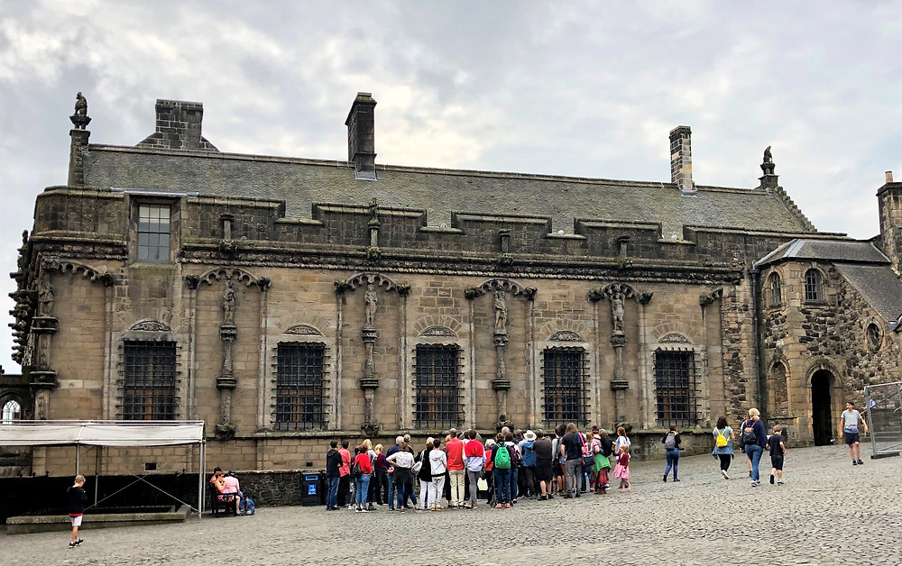 The north facade of Stirling Castle's Palace built by James V