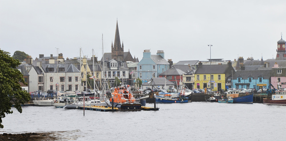 Stornoway Harbor on Lewis and Harris in the Outer Hebrides