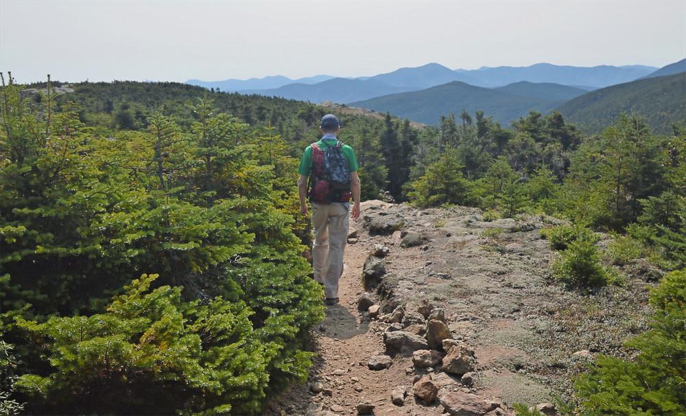 Ridgeline trail to Mt Pierce.