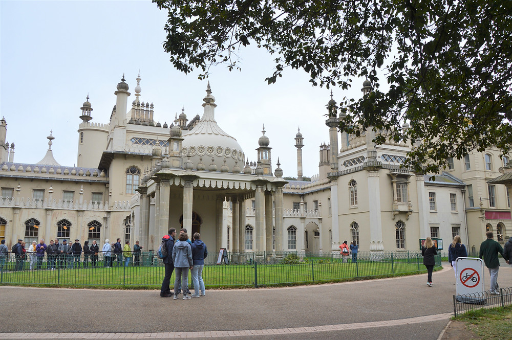 Brighton Royal Pavilion, a former royal residence of King George IV in 1820 in Brighton, England