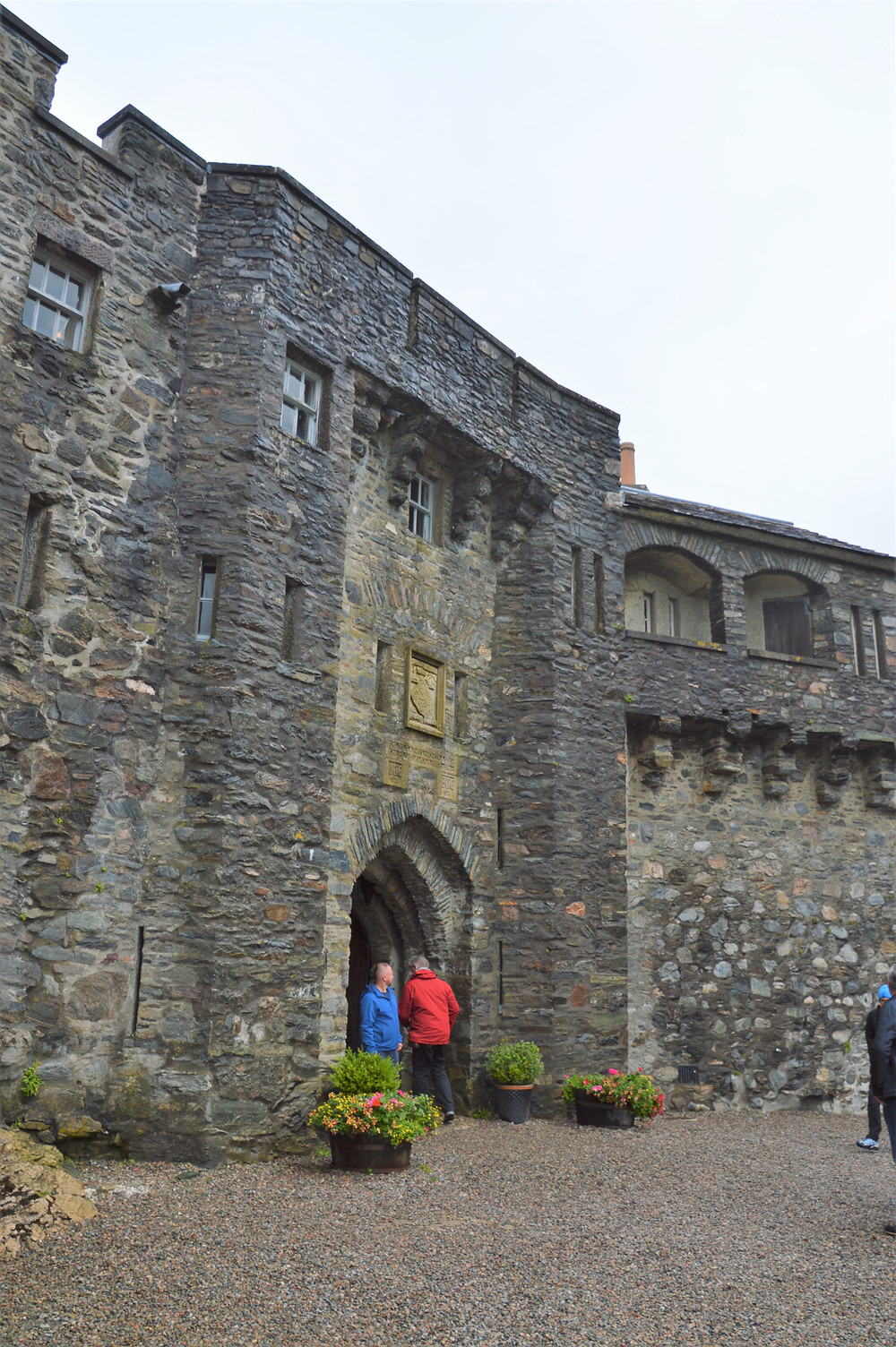 Access to the interior of the Eilean Donan Castle was controlled through a portal with a portculli