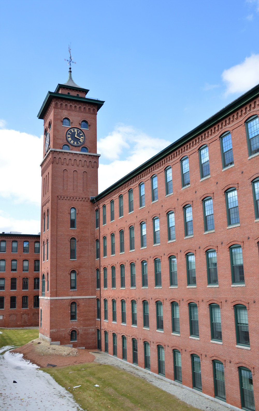 Nashua Manufacturing Company's Mill 2 and the elaborate clock tower