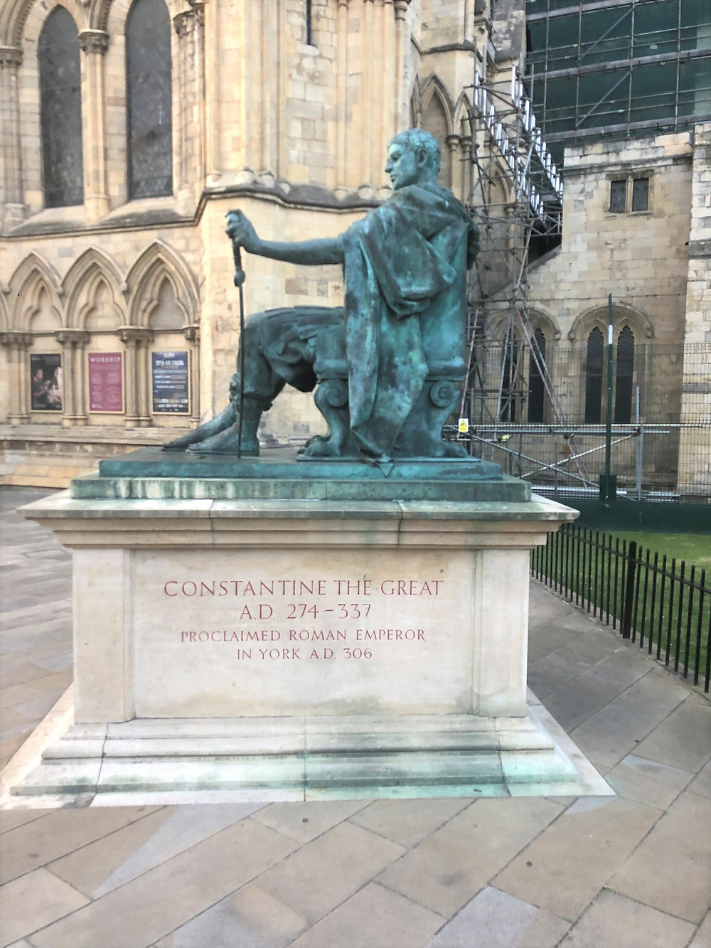 Statue of Roman Emperor Constantine the Great  274-337 BC in York, England