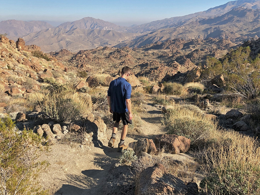 Hiking the Art Smith trail in the Santa Rosa Mountains