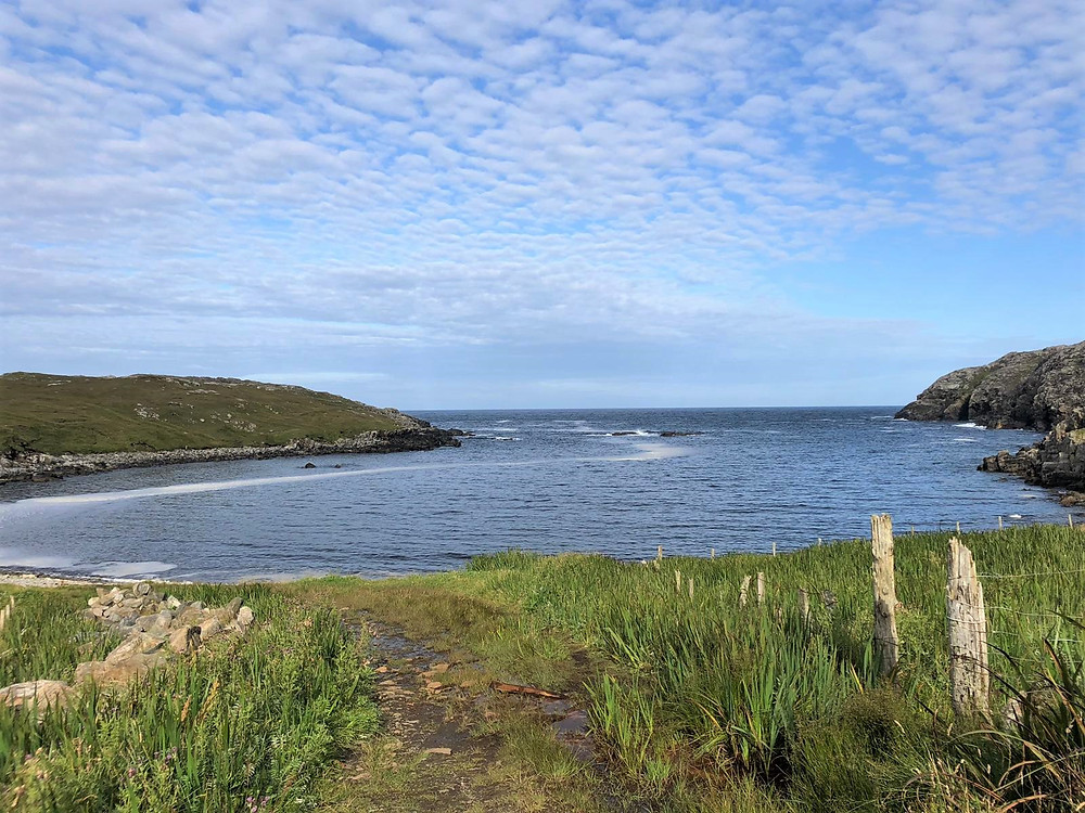 Small isolated beach in Carloway on Lewis and Harris in the Outer Hebrides