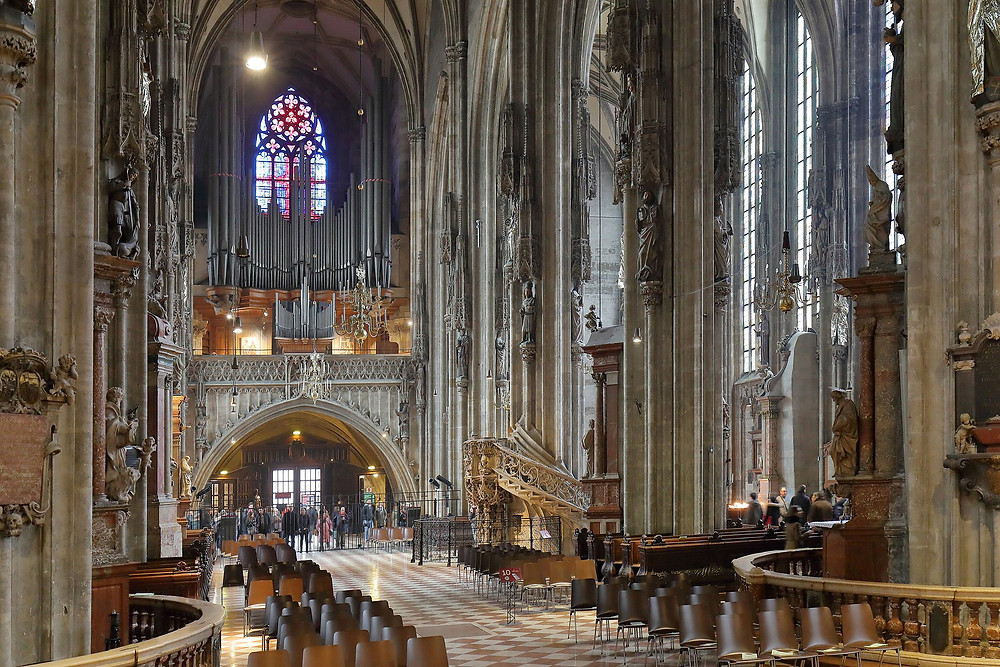 Interior of St Stephen's Cathedral in Vienna