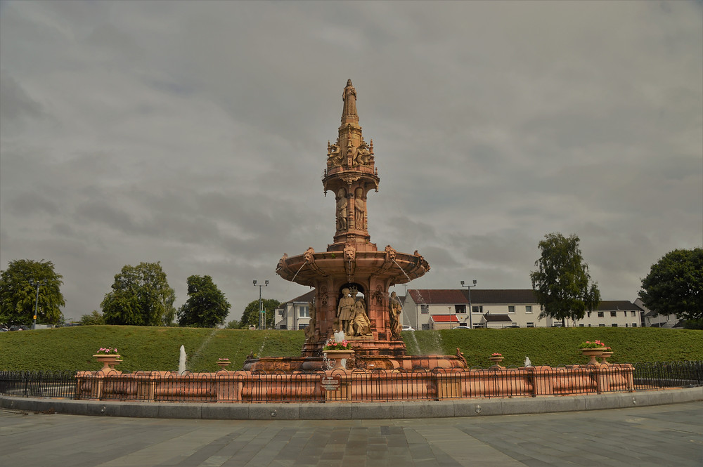 The Doulton Fountain is the largest terracotta fountain in the world at the People's Museum in Glasgow.