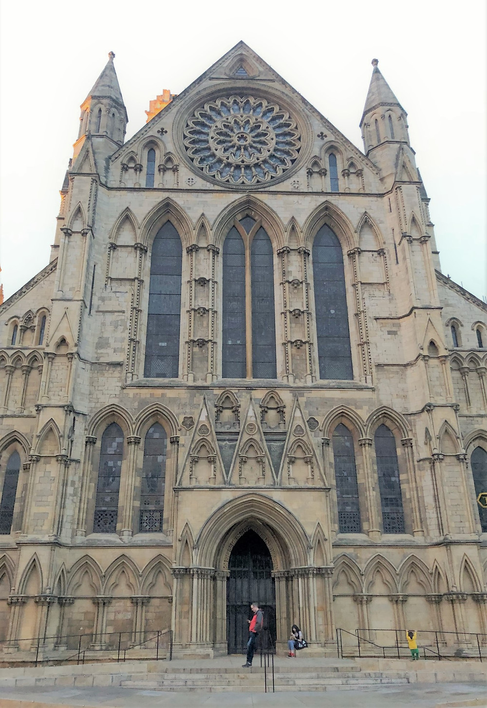 The South Transept entrance and Rose Window tracery of York Minster