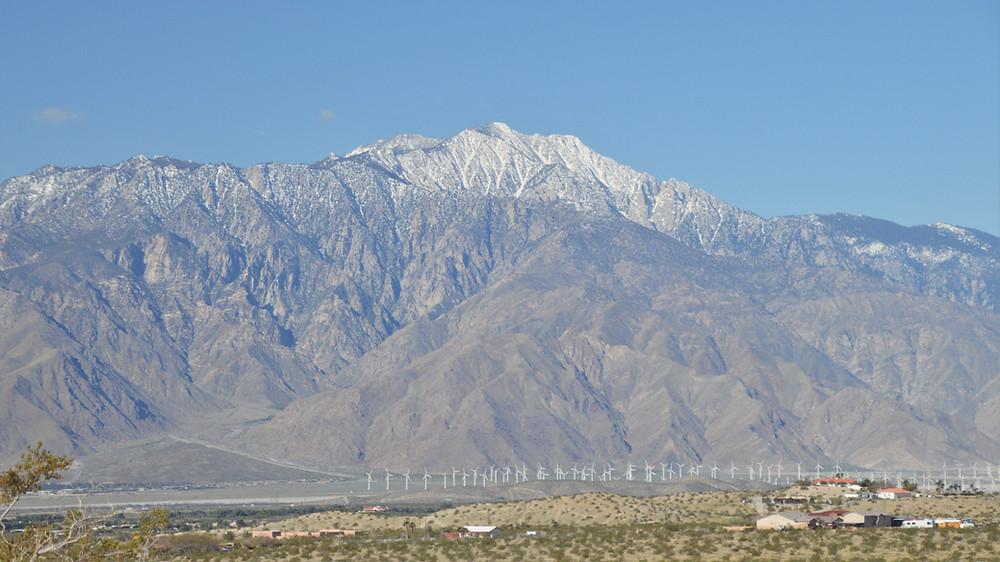 Snowy San Jacinto Mountain from Desert Hot Springs
