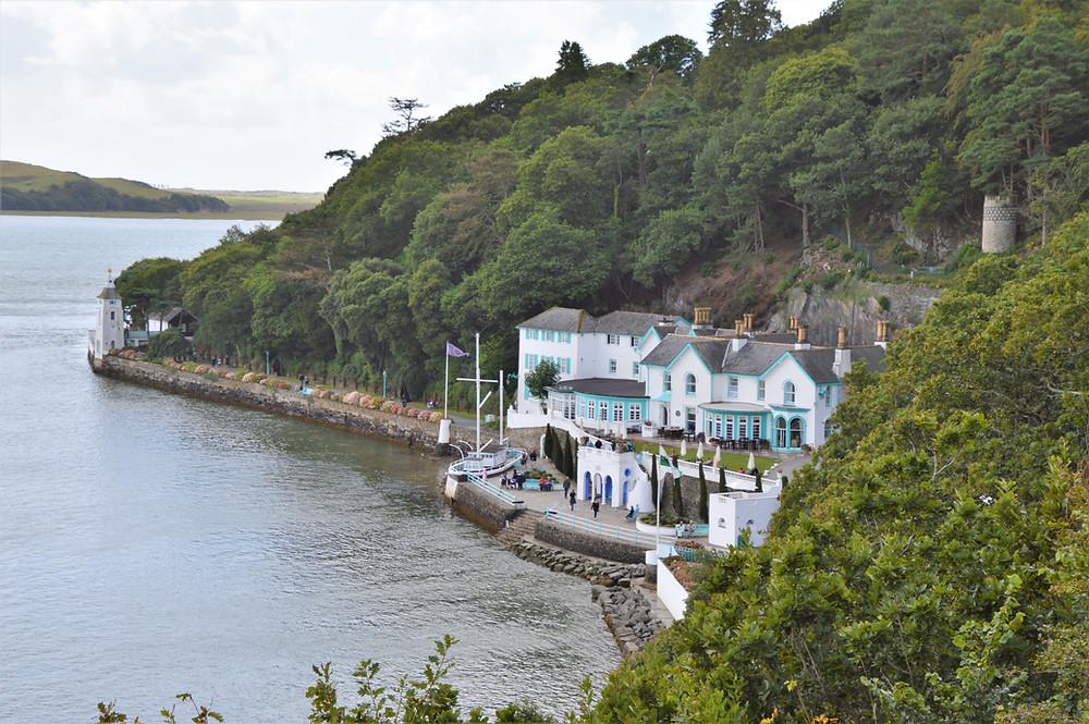 Portmeiron Village on the shores of the River Dwyryd in Gwynedd, Wales