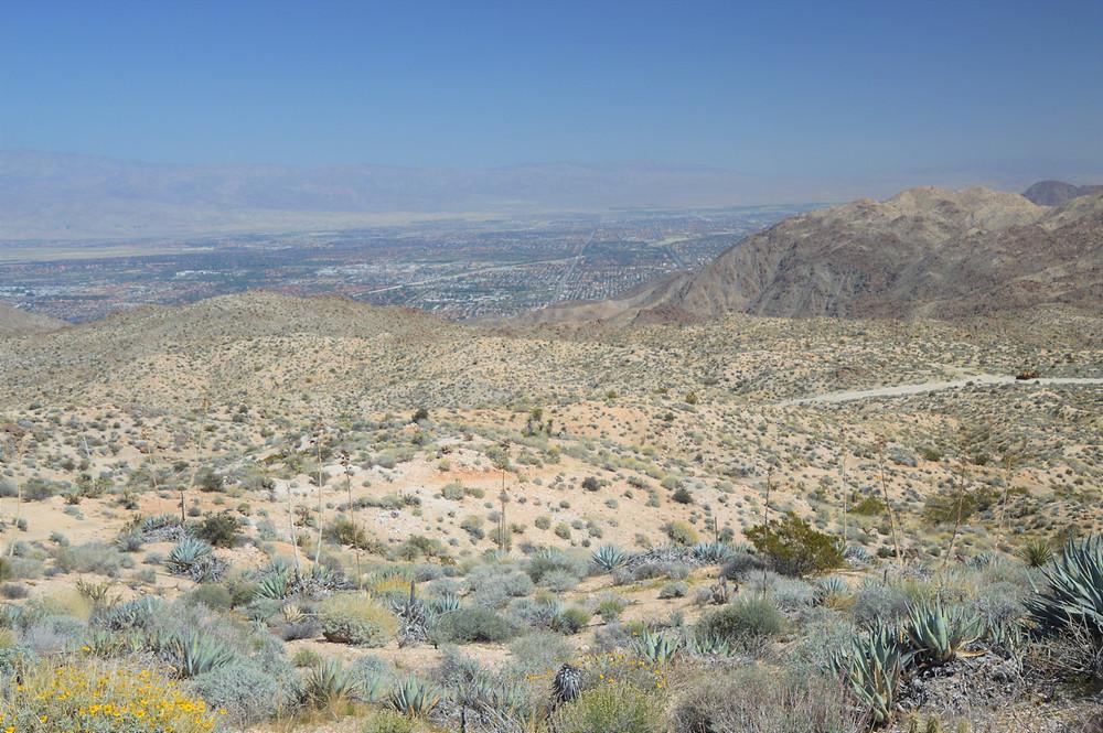 Dunn Road from the Hahn Vista Trail in the Santa Rosa Mountains