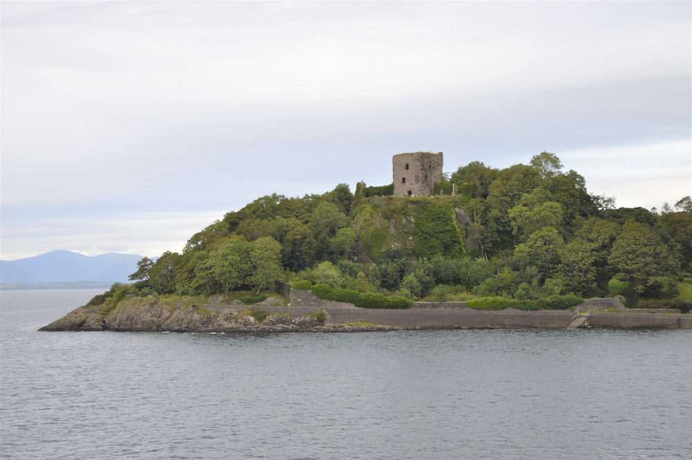 Ruins of Dunollie Castle off the coast of Oban in Scotland