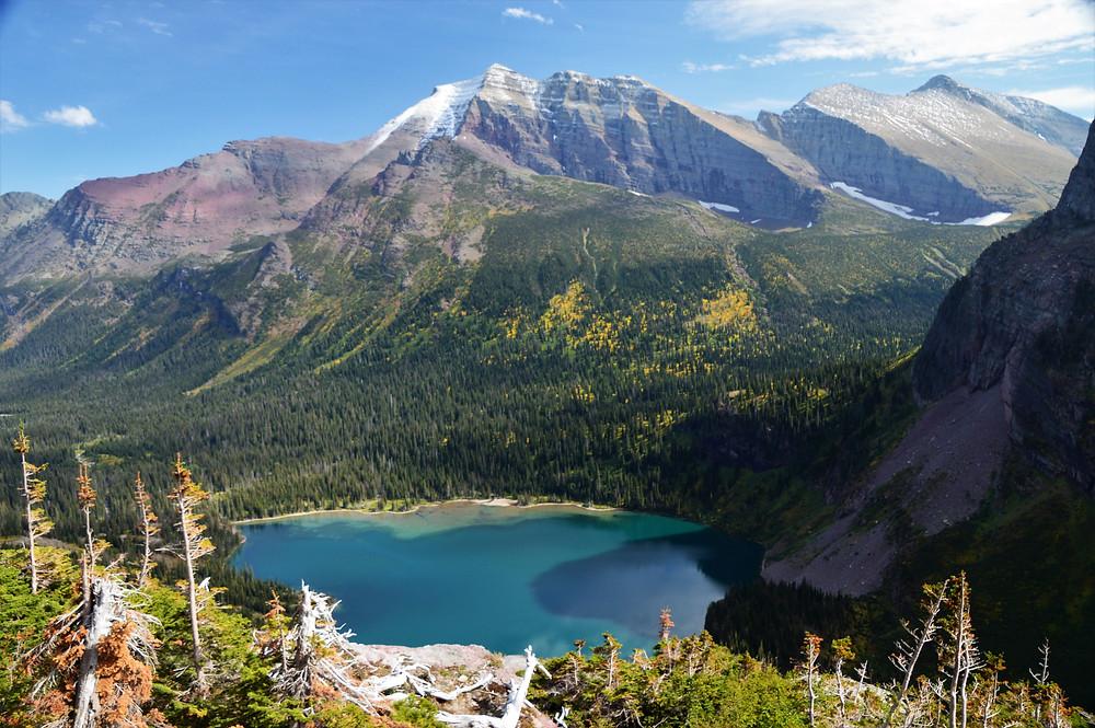 grinnell lake, grinnell Glacier Hike glacier national park