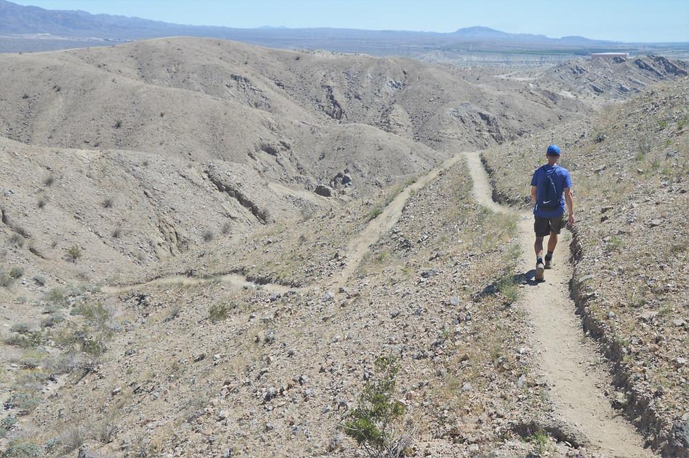 Hiking Indio Hills Badland Loop Trail, Indio Hills