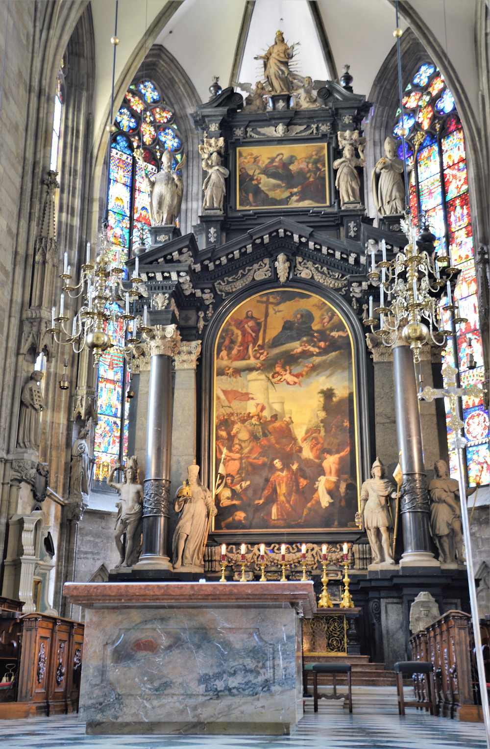 The High Altar of St Stephen's Cathedral in Vienna was built over 7 years from 1641 to 1647