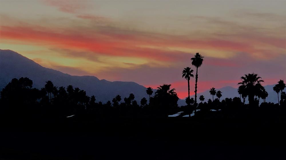 Sunset over San Gorgonio Pass and San Jacinto