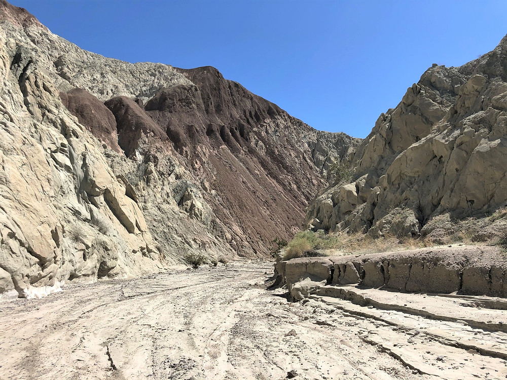 Part of the San Andreas fault gouge zone at Coffee Bean Canyon, Red Canyon