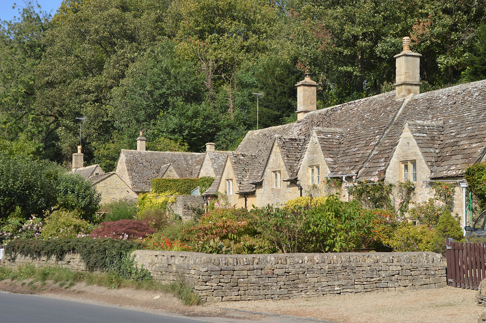 Small village of Bibury in the Cotswolds