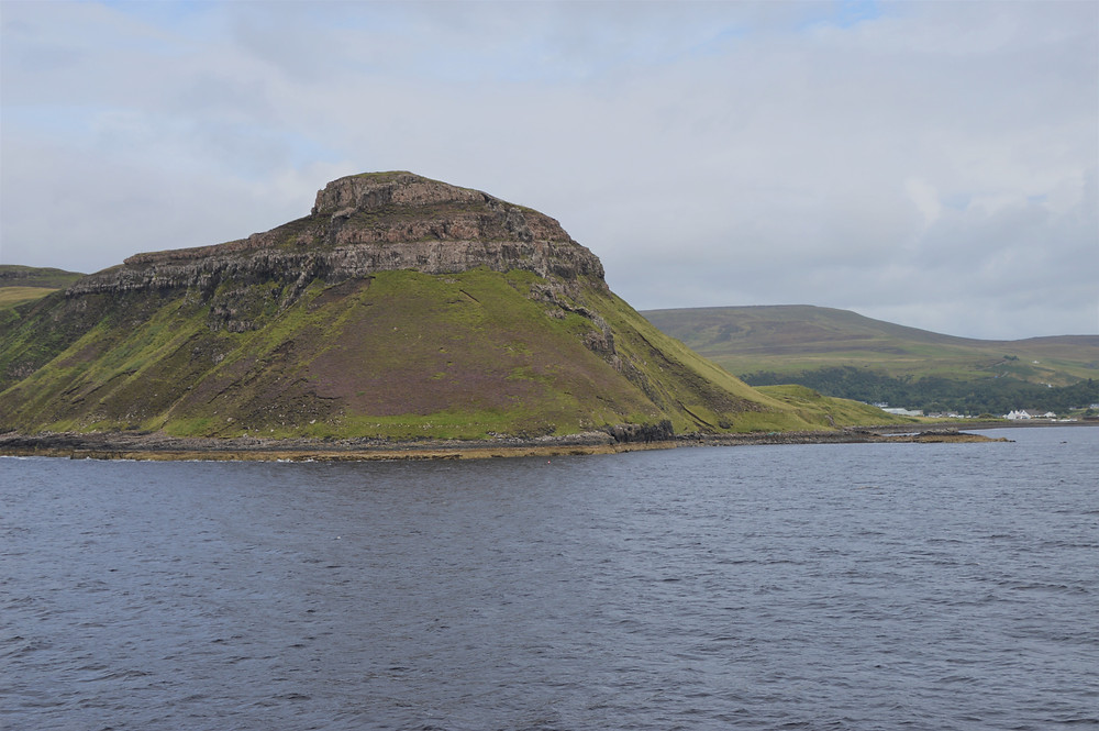 Leaving the Isle of Skye and traveling through Loch Snizort on Calmac Ferry to Outer Hebrides