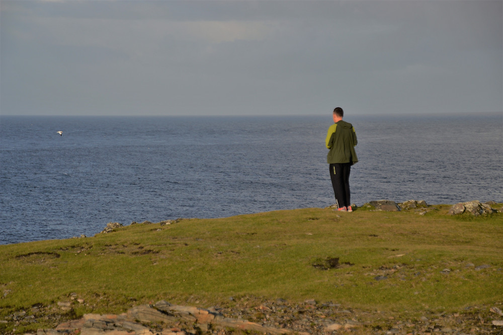 Standing on Butt of Lewis on Lewis and Harris in the Outer Hebrides