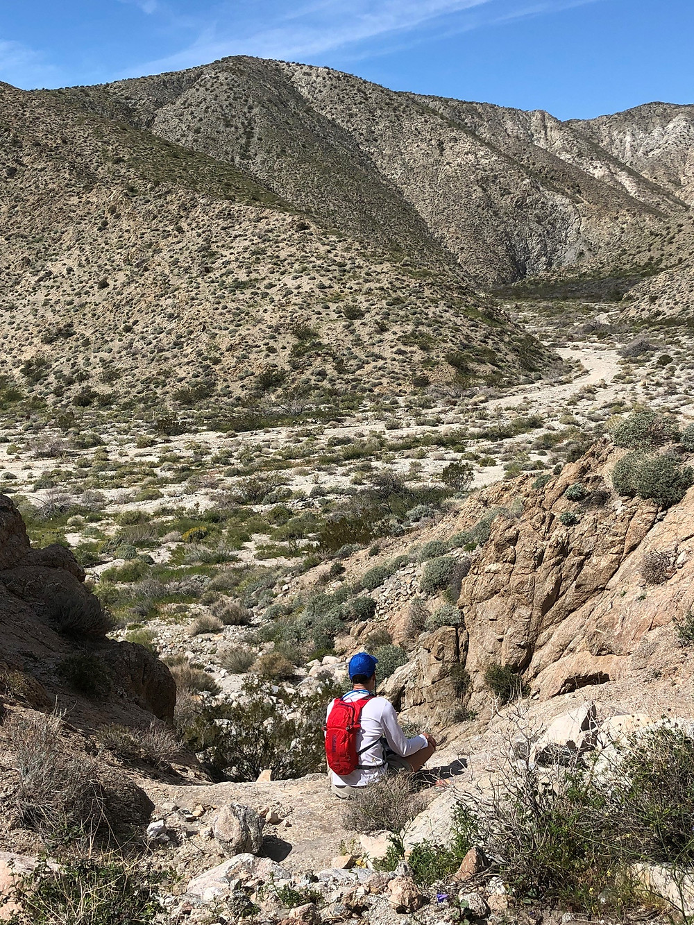 Lunch time spot along the ridge of the Big Morongo Canyon Trail in the Little San Bernardino Mountains in Morongo Valley