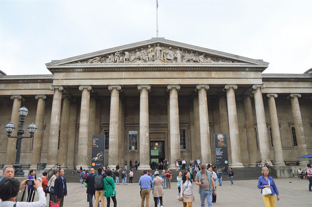 Main entrance to the British Museum in London