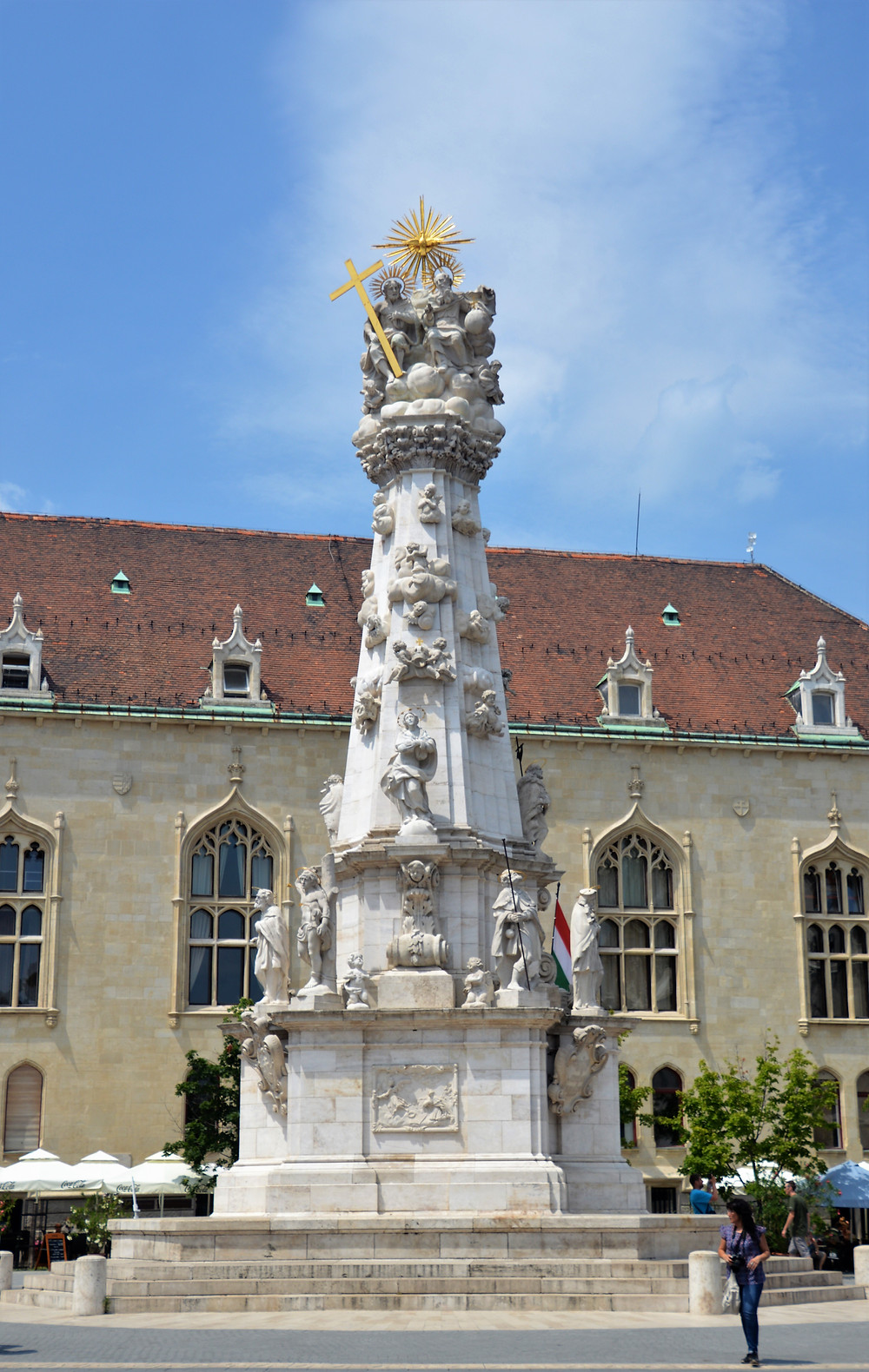 The Holy Trinity column finished in 1709 commemorates the people of Buda who died from two outbreaks of the Black Plague.