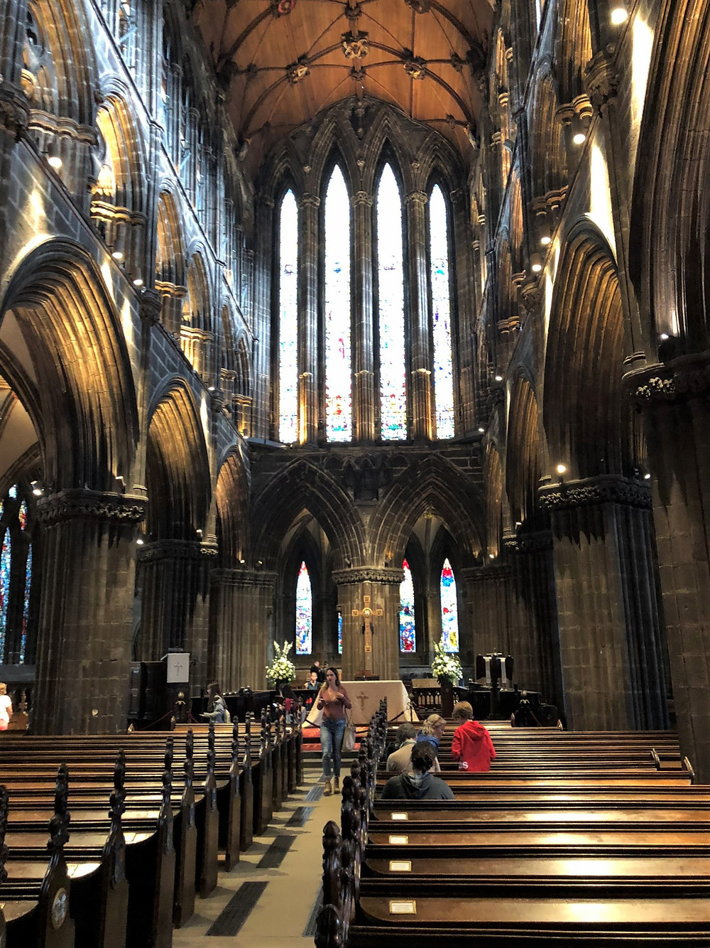 The Quire of Glasgow Cathedral was built in the mid-1200s