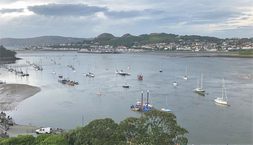 View of the Harbor for Towers in Conwy Castle