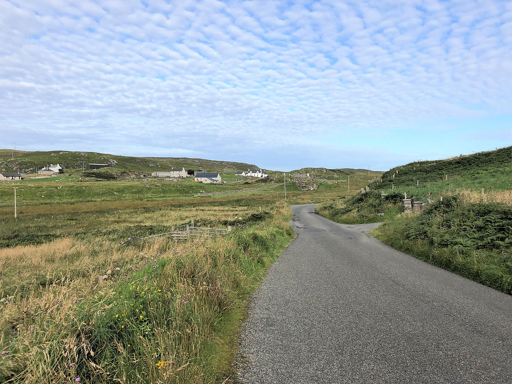 Quiet roads in Carloway on Lewis and Harris in the Outer Hebrides