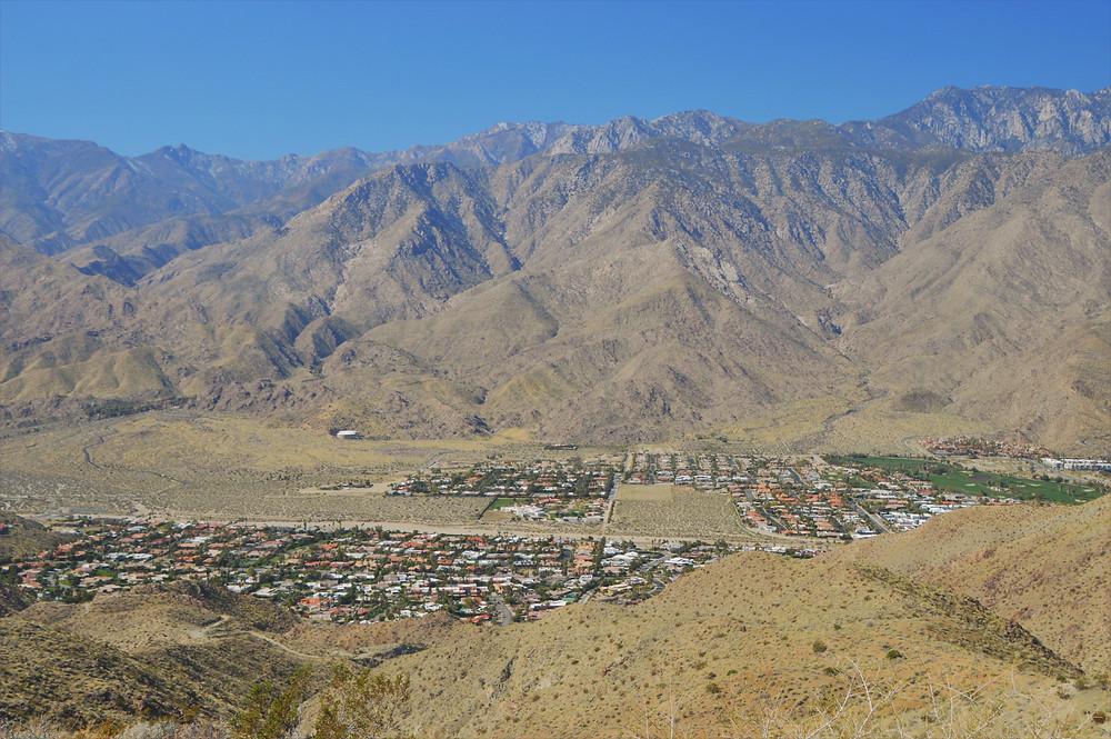 City Palm Springs at base of San Jacinto Mountains
