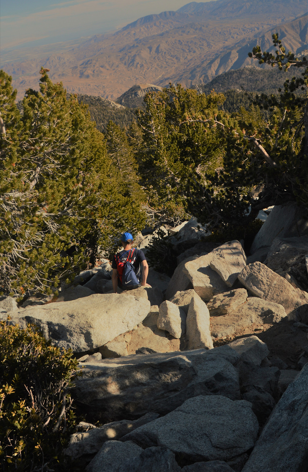 Class 2 or 3-ish scramble up a 200+ vertical foot section leading to San Jacinto summit