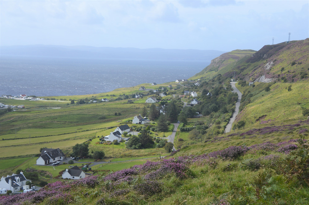 Small villages on the Trotternish peninsula on the Isle of Skye
