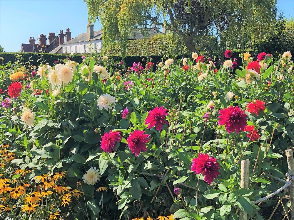Beautiful gardens on Arundel Castle grounds