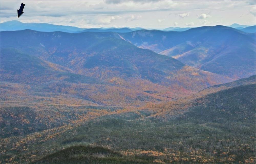 Mt Washington from summit of Mt Lafayette in the Franconia Mountain Range