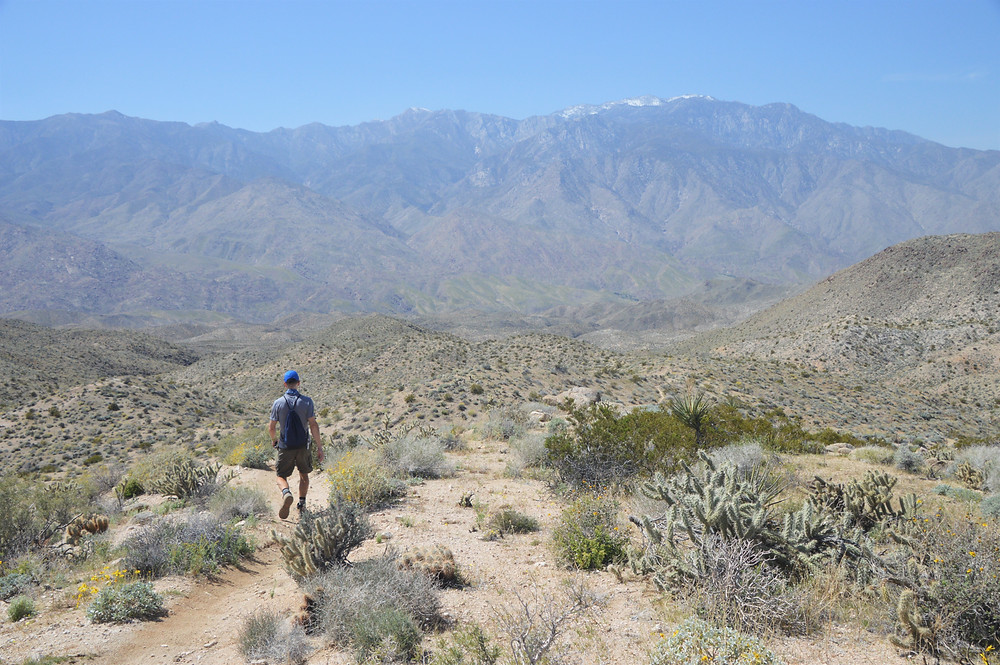 San Jacinto peaks from Hahn Vista Trail on Cathedral Canyon Loop