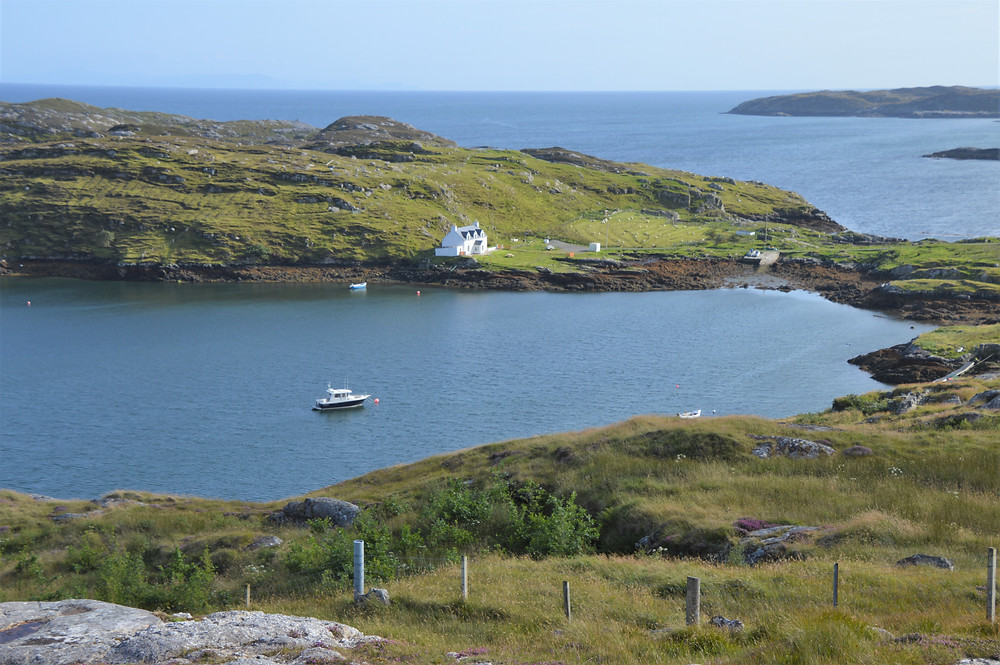 Sheltered cove along the Isle of Harris coast in the Outer Hebrides