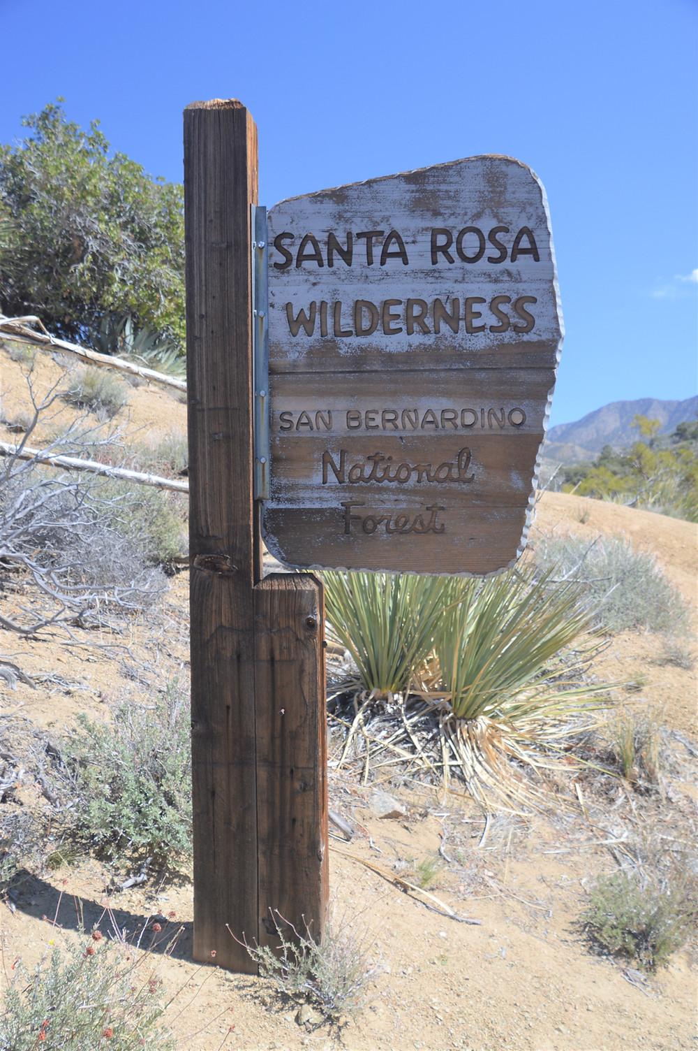 Entering Santa Rosa Wilderness along the Cactus Spring trail