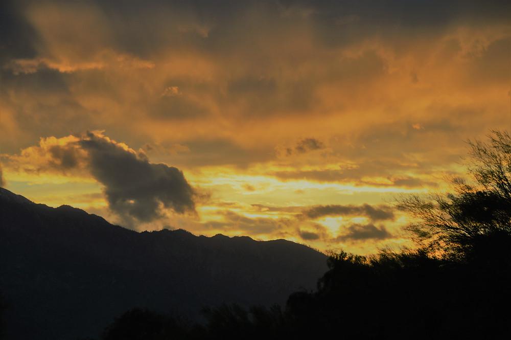 Sunset over San Jacinto Mountains