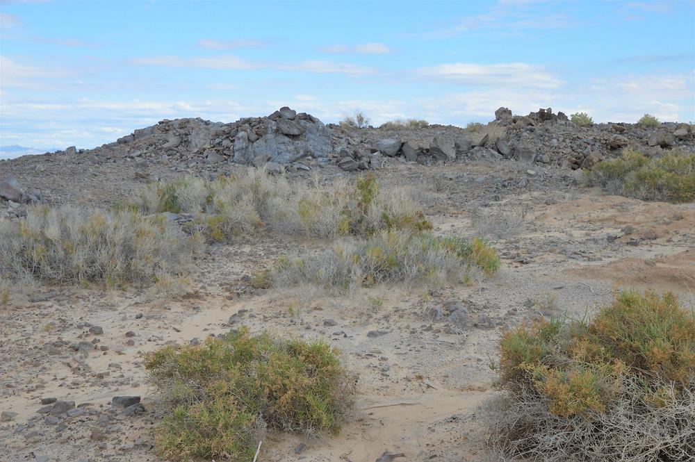 Obsidian Butte on Salton Sea shore in California