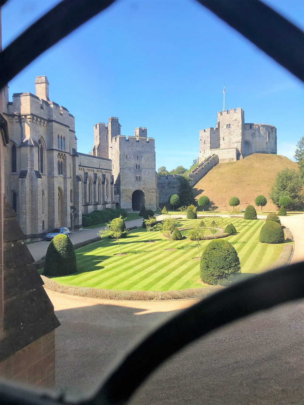 Commanding view of the Keep from the Arundel Castle complex